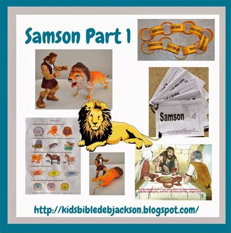 bible for samson part 1 sunday school crafts 352 | 462ea763341755a6f7e1a7c2cd7cdfcd