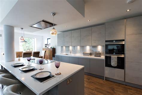 Nobilia Handle less Concrete Kitchen Twickenham   Richmond