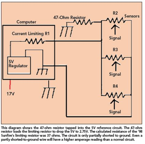 reference circuit short  ground repair problem