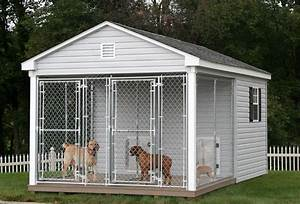 Unique dog houses outside find the right one for your for Dog run outdoor kennel house