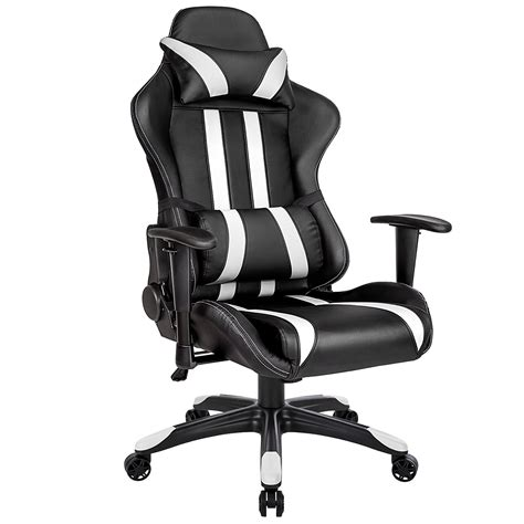 chaise gamer pc chaise bureau gamer en noir et blanc chaise