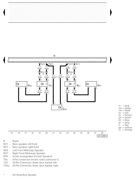looking for a correct raido wiring diagram for a 2002 audi a4 quattro with synphony 2 raido
