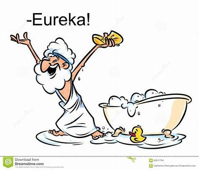 Archimedes Eureka Karikaturillustration