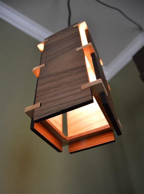 square wooden pendant light id lights