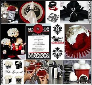 My wedding place black white red wedding for Red black and white wedding ideas