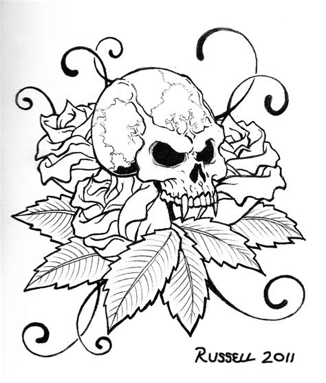 skull coloring pages getcoloringpagescom