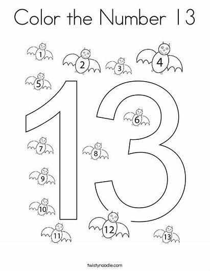 Number Coloring Preschool Numbers Tracing Noodle Worksheets