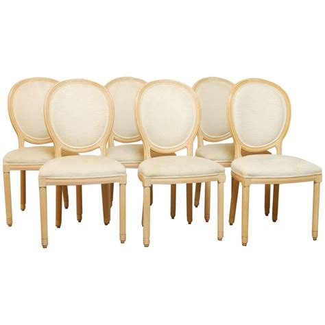 set of six white washed french dining chairs at 1stdibs