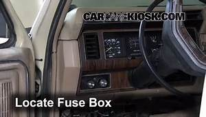 Interior Fuse Box Location  1983-1986 Ford F-250