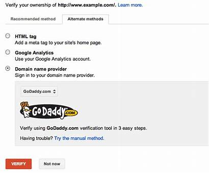 Google Verification Verify Godaddy Using Domain Easier