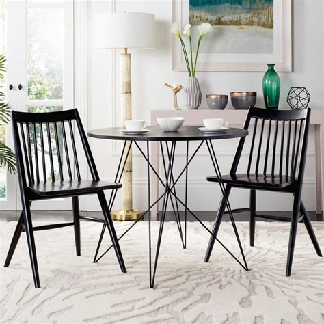 Safavieh Dining Chair by Safavieh Wren Black 19 In H Spindle Dining Chair Set Of