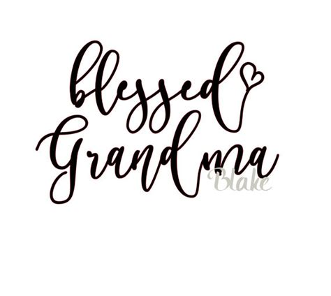 This post may contain affiliate links. Blessed Grandma svg Mother's day Grandparent's day svg cut ...