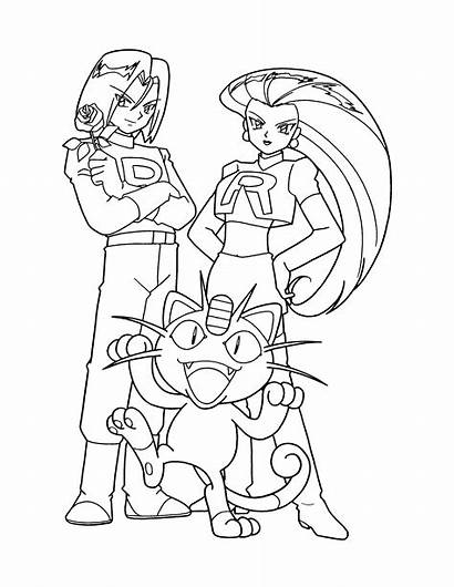Pokemon Coloring Pages Rocket Team Sheets Colouring