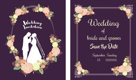 Wedding card template black white retro ornament Free