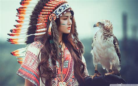 native american girl  eagle  hd desktop wallpaper