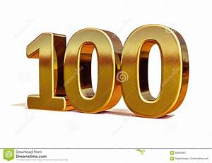 Gold 3d 100th Anniversary Sign Top 100 Stock Illustration ...