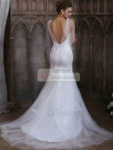 slimming over hip tulle ruffles transparent straps beading With slimming wedding dresses