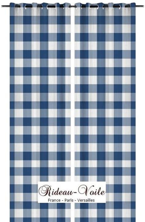 rideau carreaux bleu blanc vichy