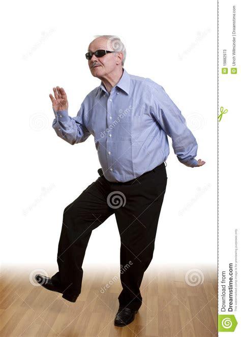 senior man dancing  stock  image