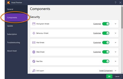 Adding Or Removing Avast Antivirus Program Components