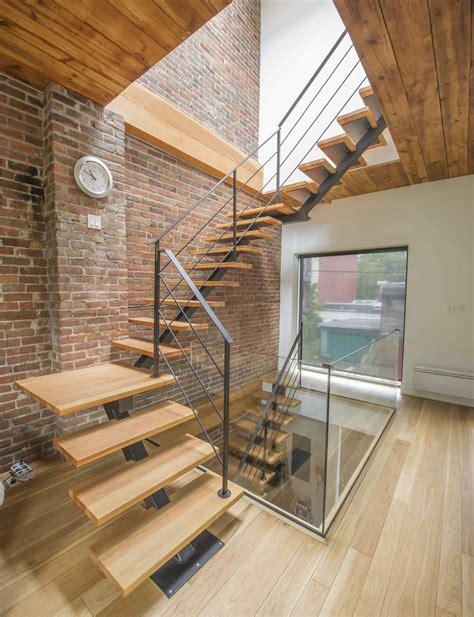 escalier mixte bois metal escalier bois et m 233 tal c 232 dre de l ouest stairs escaliers photos