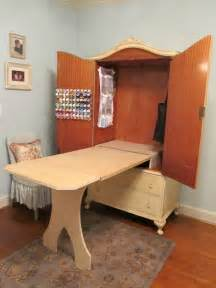 Sewing Machine Armoire Cabinet Diy Sewing Cabinet Transformation Of An Antique