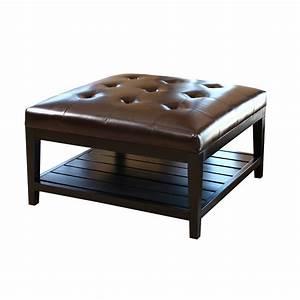 abbyson living villagio leather coffee table ottoman With wayfair ottoman coffee table