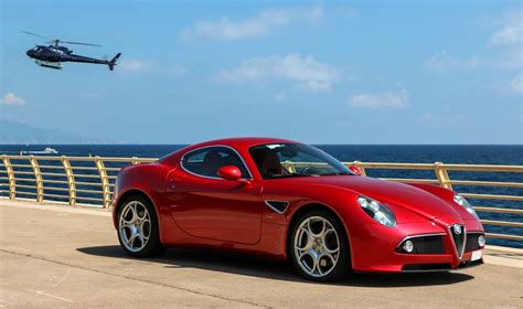 old renault eye candy alfa romeo 8c and the sea