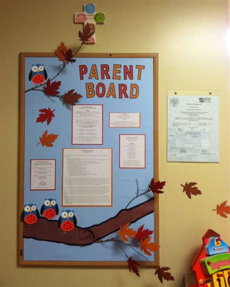 three dimensional parent board for fall classroom 235 | 3bb7fb31f3a2a463d10e9b2efa3a118f preschool parent communication communication boards