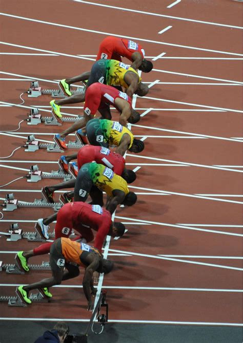 File:Mens 100m Final - On your marks - 2012 Olympics.jpg ...