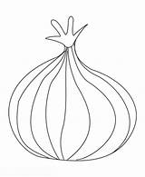 Onion Coloring Pages Onions Drawing Printable Template Sketch Getdrawings sketch template