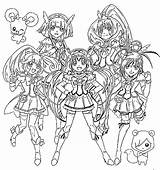 Glitter Force Coloring Pages Printable Coloriage Imprimer Cure Sheets Pretty Glitterforce Colouring Fille Team Games Dessin Colorier Mostly Custom Smile sketch template