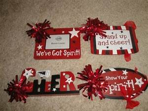 best 25 cheerleading signs ideas on pinterest With cheer letter signs
