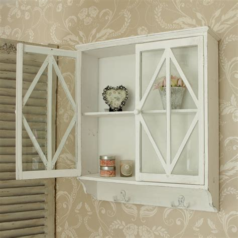 white wall cabinet  glass doors melody maison