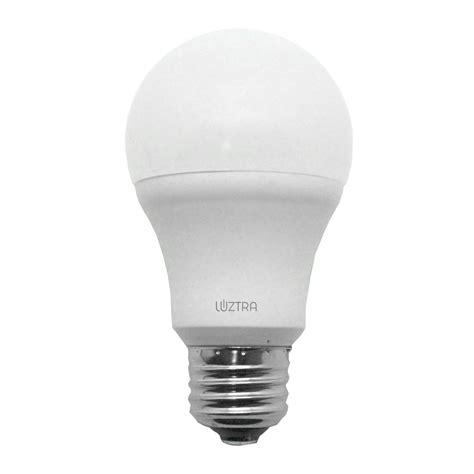 la19 led bulb 9 watts dimmable 60w equiv 800 lumens luztra