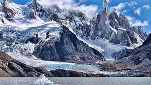 Snow Mountains Landscape HD Wallpaper