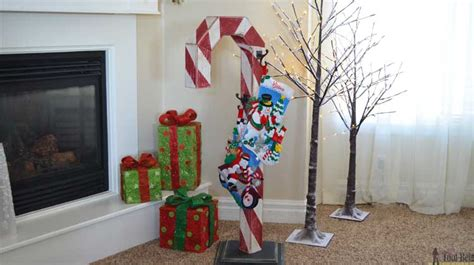candy cane holiday stocking post  tool belt