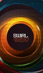 Abstract design with 3D swirls - Vector download
