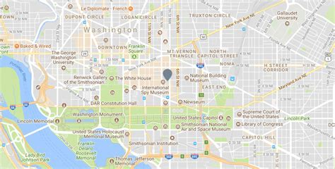 map  downtown washington dc kimpton hotel monaco dc