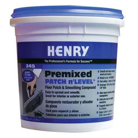 Concrete Floor Patching Compound by Henry 345 1 Gal Premixed Patch And Level 12064 The Home