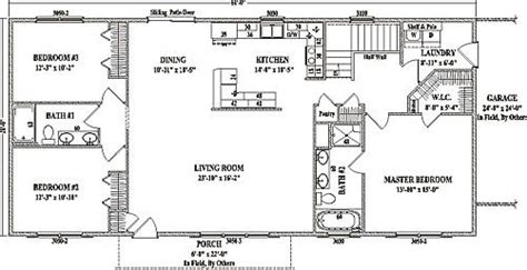 inspirational open floor house plans ranch style  home plans design