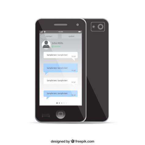 free phone chat mobile phone chat template vector free