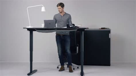 ikea motorized standing desk ikea 39 s adjustable bekant desk looks to bring you to your feet
