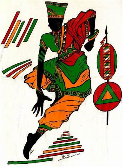 Africa African Clipart Clip Dance Dancers Dancer