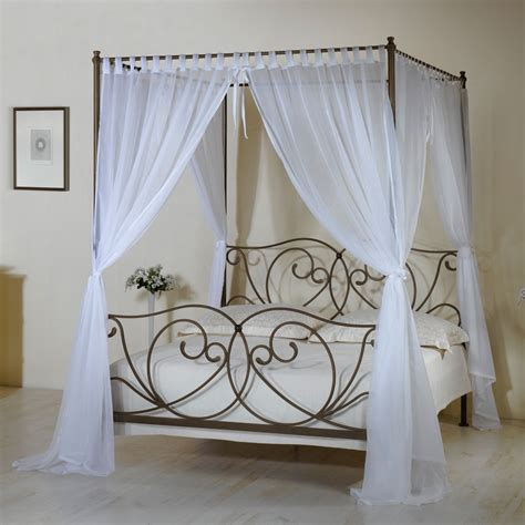 schlafzimmer komplett metall himmelbett z b in 140x200 cm weiß vila
