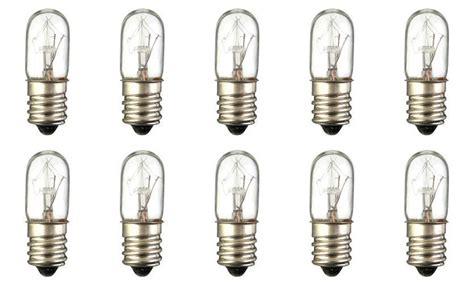 box of 10 bulbs 3t4 incandescent 3 watt 120v t4