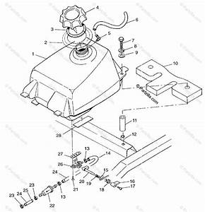 Polaris Atv 1997 Oem Parts Diagram For Fuel Tank Scrambler