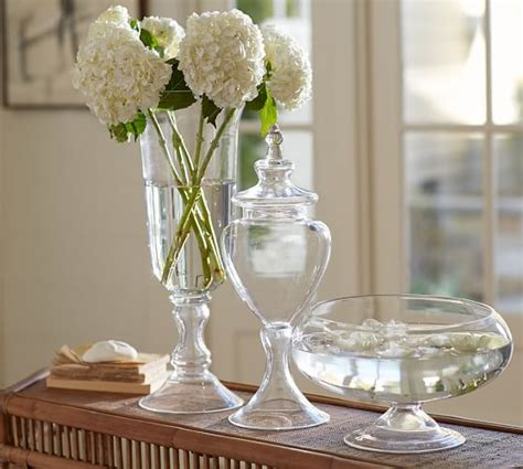 voluminous clear glass vases pottery barn