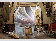 New photos With viaduct in rear view, Bertha begins