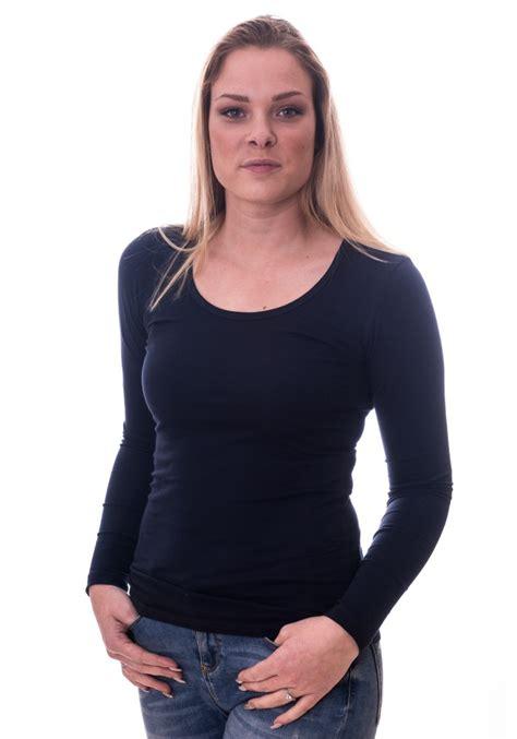 claesens t shirt o neck longsleeve navy blue 8016